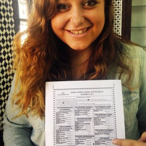My daughter Stevie sent in her ballot today from Morocco!