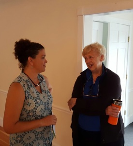 Laura and Ann at last weeks legislative issues forum in Dover