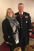 Colonel Greg Knight and his wife Tracey Knight in the House chamber prior to the vote to elect him Adjutant General of the Vermont National Guard