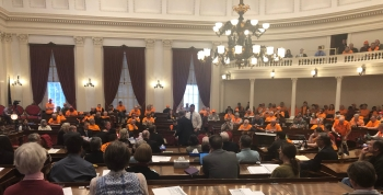I attended the hearing on S.169 - a Senate bill proposing 24 hour waiting periods for handguns. Several folks have asked how I plan to vote on the bill which yet to emerge from House Judiciary. If a bill comes out of House Judiciary, I will carefully consider what is proposed. Thank you to all who took the time to come and testify.
