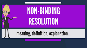Image result for non binding resolution
