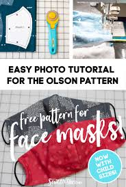 Simple Step By Step Tutorial for the Olson Face Mask Pattern ...